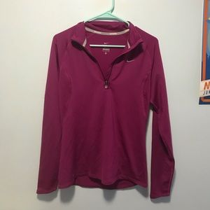 Nike Plum Long Sleeve Running Shirt